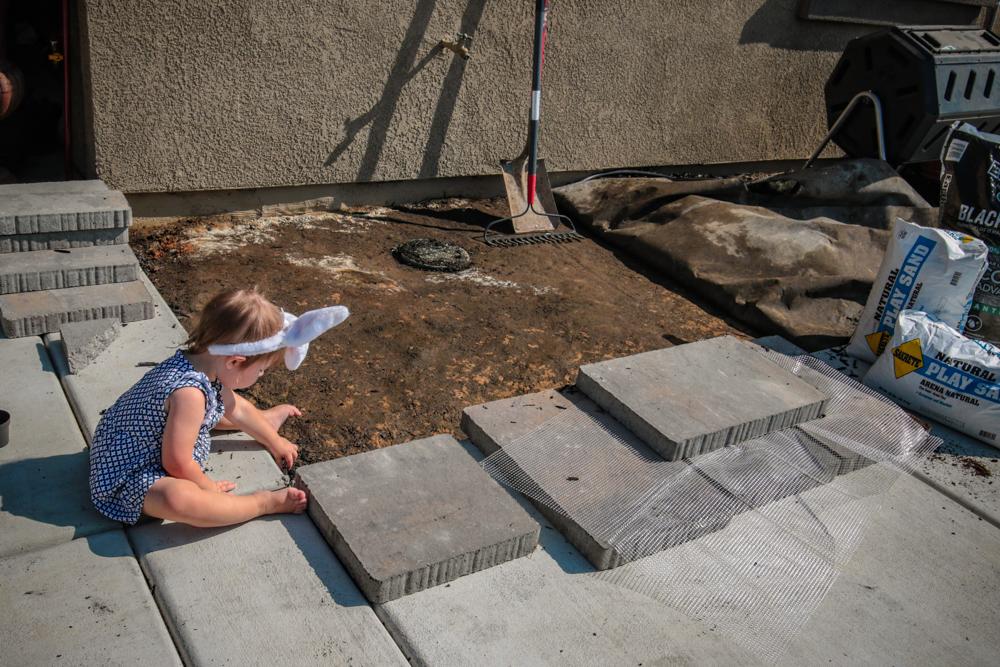 DIY Paver Stone Steps - Breaking Ground