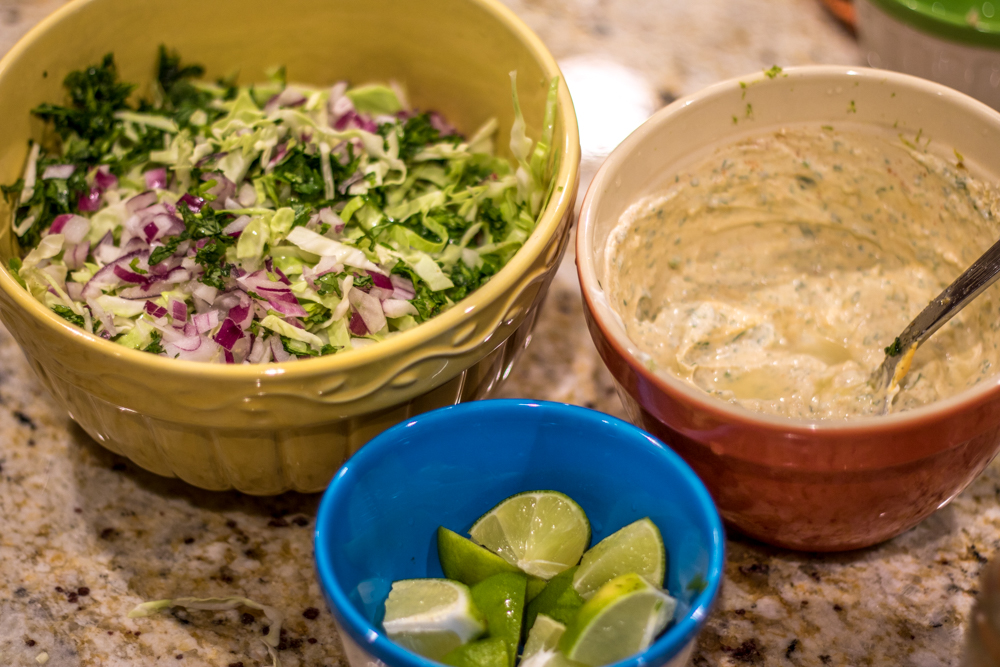 Lorie's Cod & Red Snapper Fish Taco - Getting Prepared