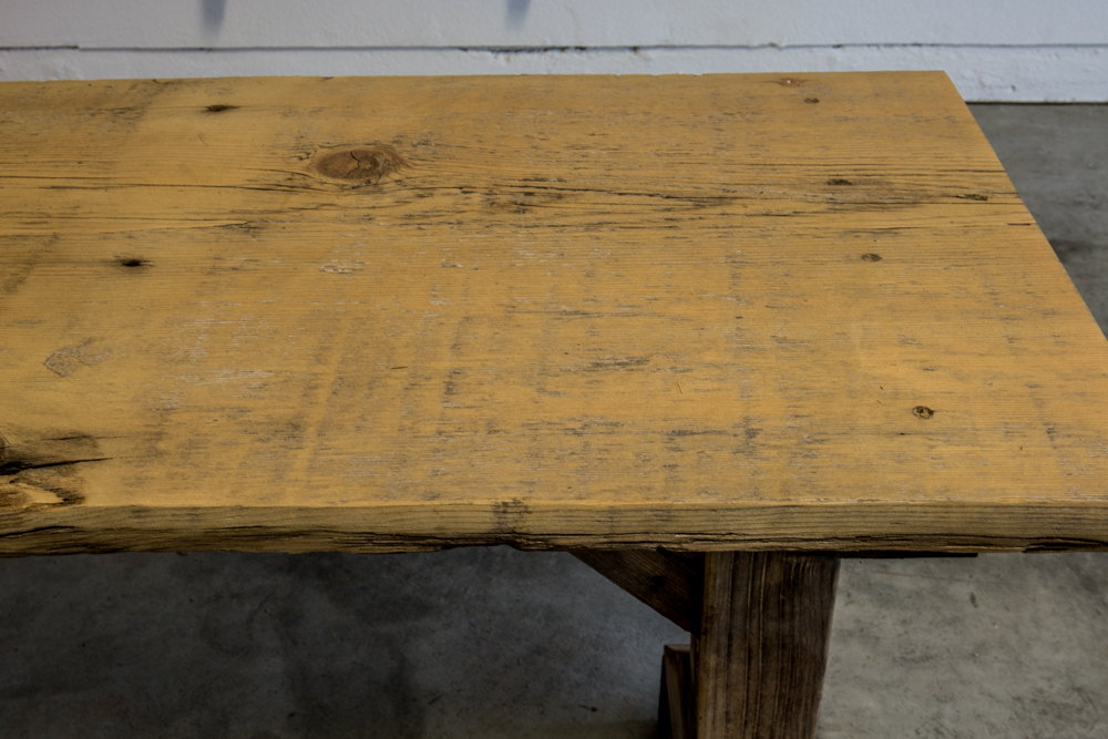 Reclaimed Wood Table Sanding  Staining - Slightly Organic