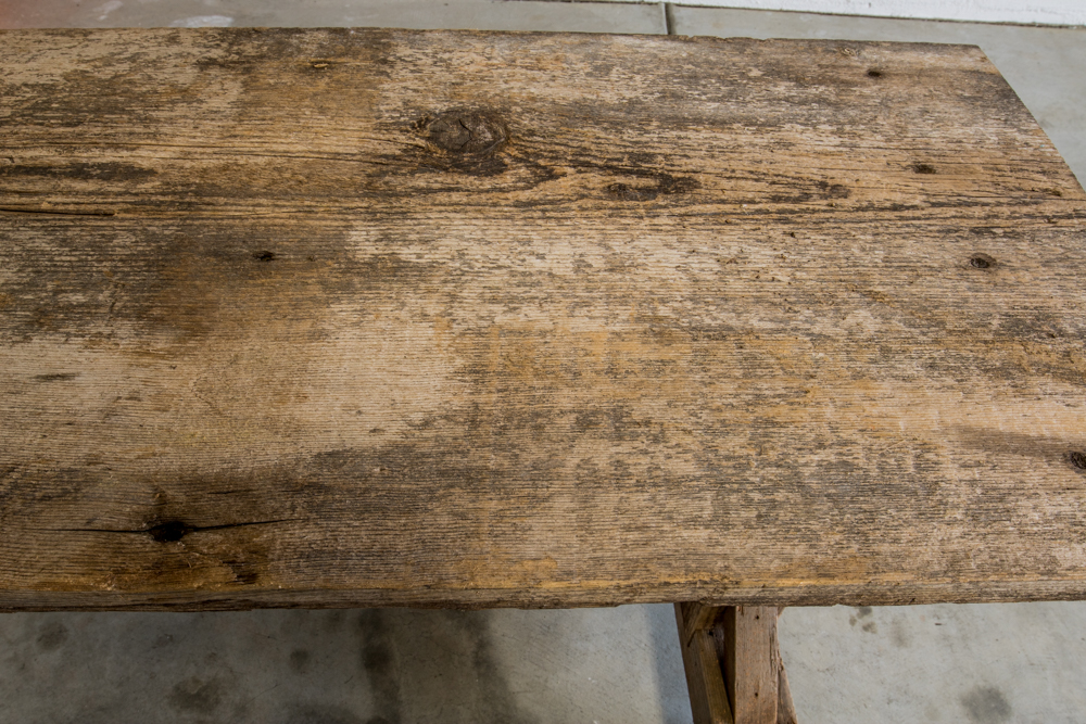 Reclaimed Wood Sofa Table Before Sanding Slightly Organic